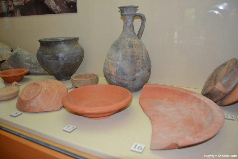 Material arqueológico de la excavaciones de Dianium