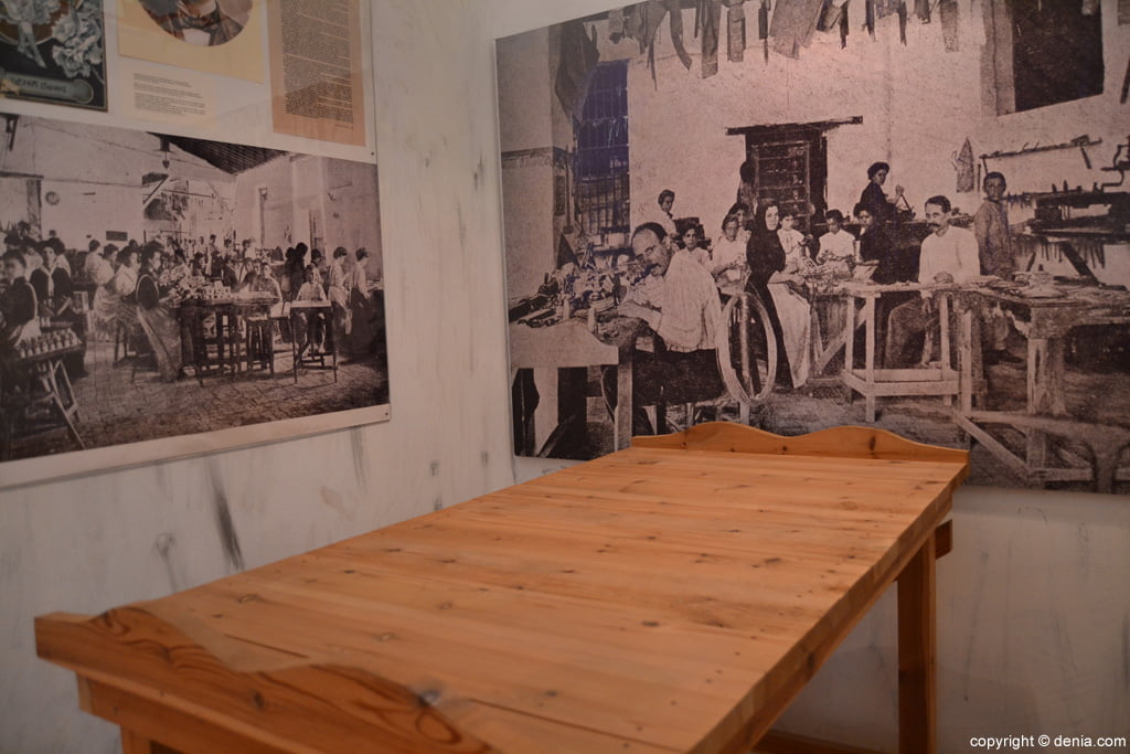 Mesa de trabajo de la fábrica de los Hermanos Ferchen