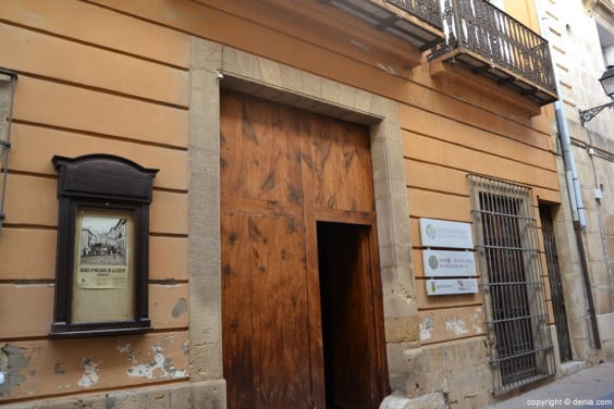 Museu Etnológico entrada Dénia