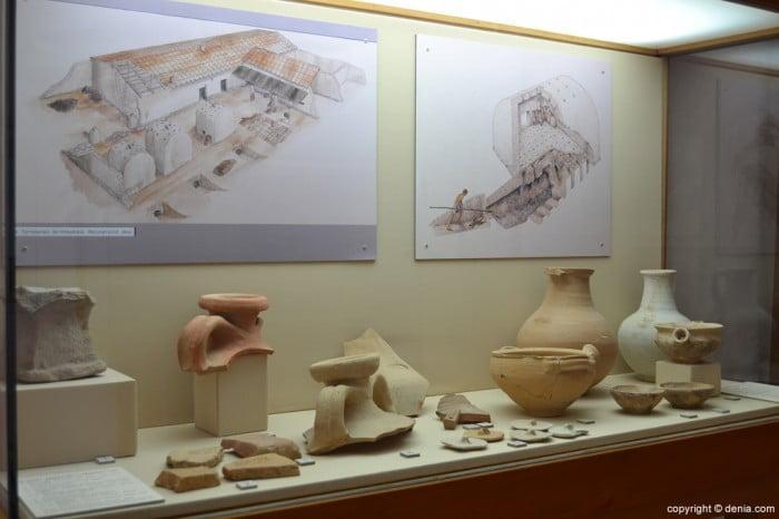 Materiales arqueológicos procedentes de las excavaciones en la vila romana de la Almadrava