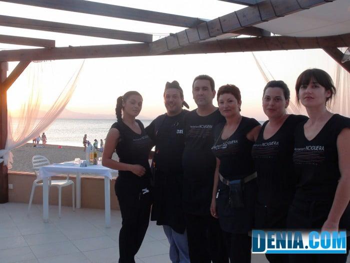 Noguera mar Hotel, Restaurant al costat de la platja, personal
