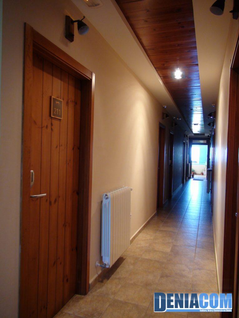 Pasillo del Hotel Noguera Mar en Dénia