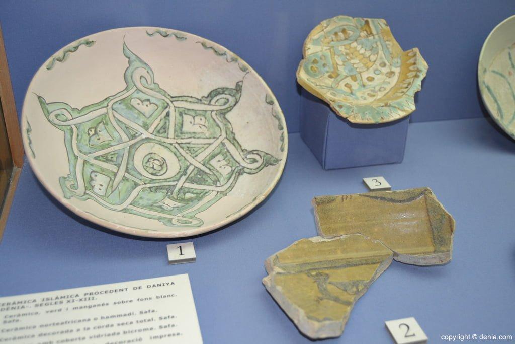 Piezas de cerámica islámica procedente de Daniya