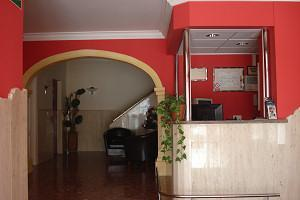 Reception of Hostal Comercio in Dénia