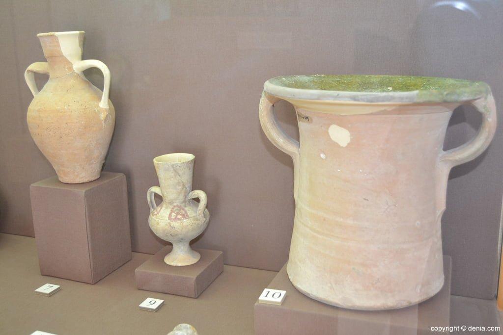 Restos arqueológicos de cerámicas italianas procedentes del Castillo de Dénia
