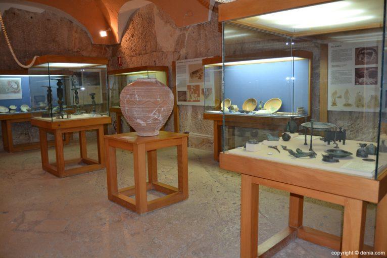 Sala del Museo Arqueológico de Dénia