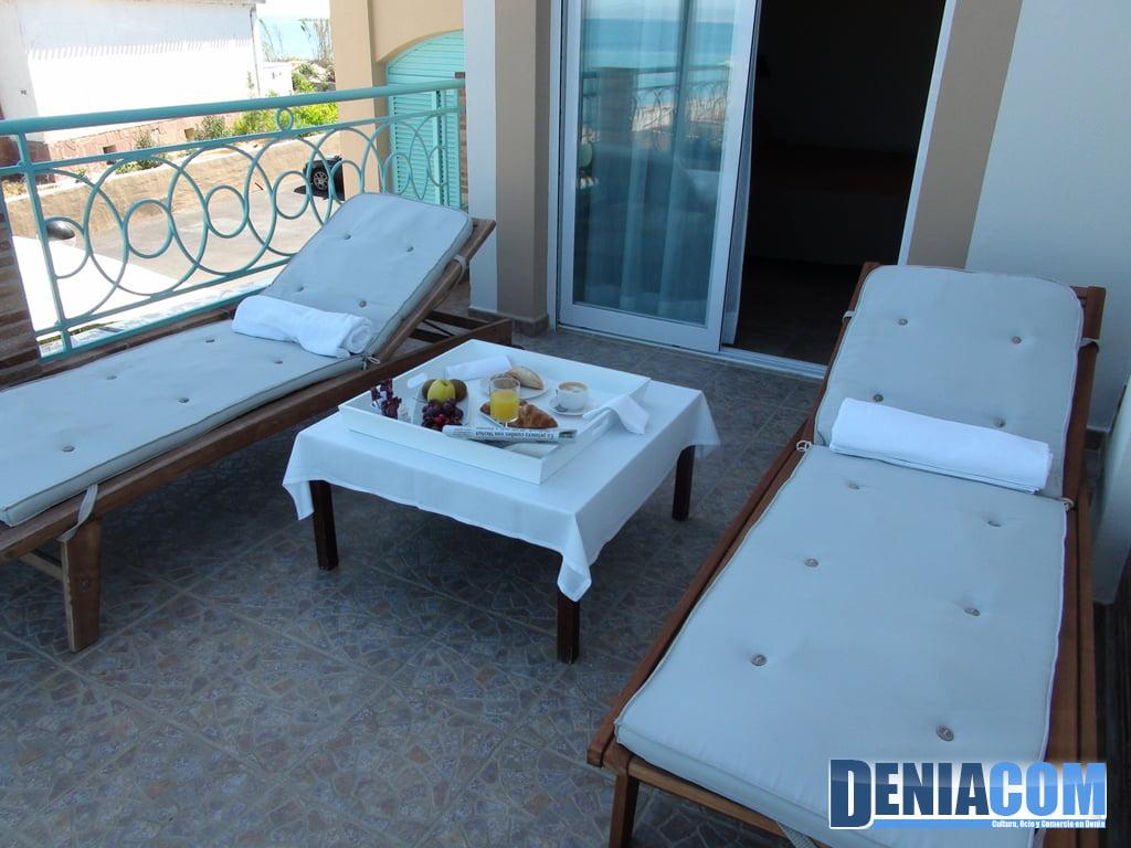 Terrassa de l'Hotel Noguera Mar a Dénia