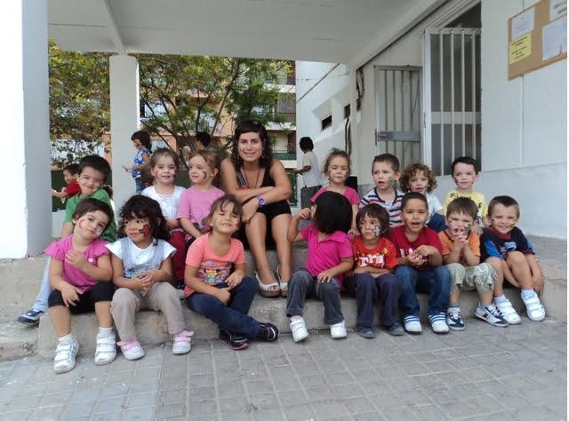 Alumnos de infantil del colegio Cervantes