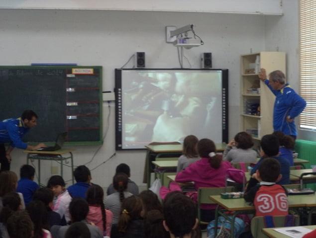 Aula de audiovisuales del colegio Cervantes
