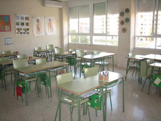 Aula de primaria del colegio Montgó