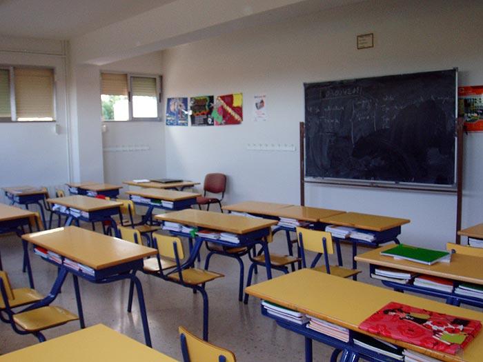 Aula de secundaria del Colegio Paidos