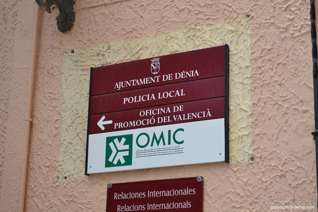 Oficina de la Policia Local a Dénia