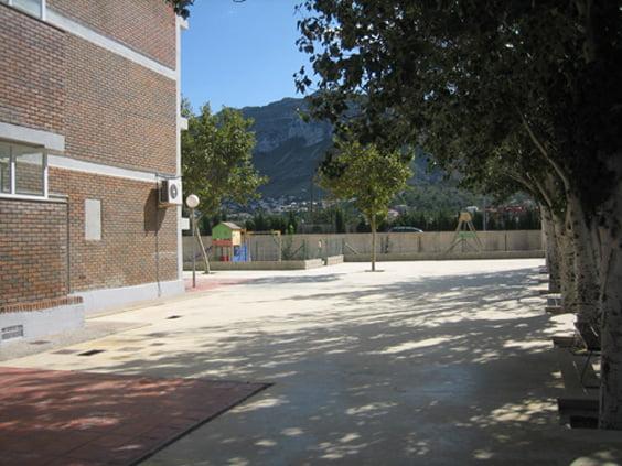 Patio de infantil del colegio Montgó