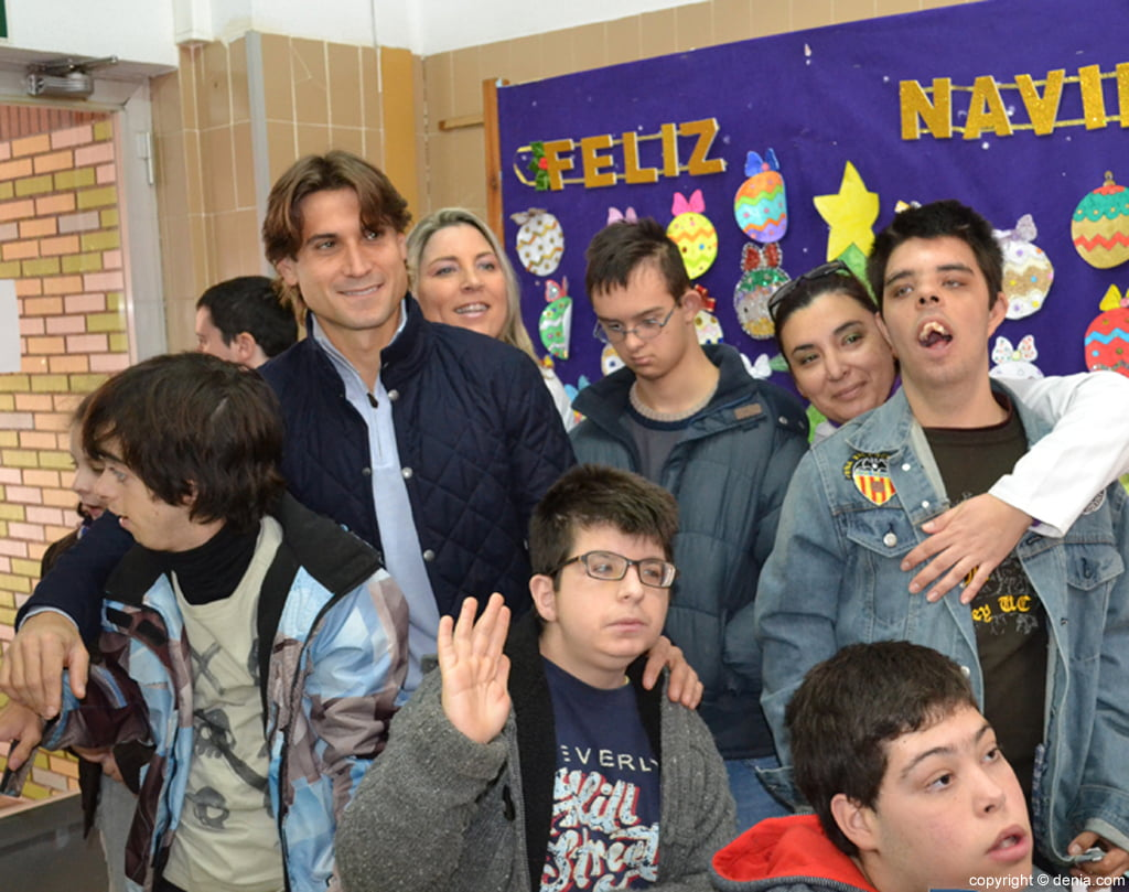 Visita de David Ferrer al colegio raquel Payà