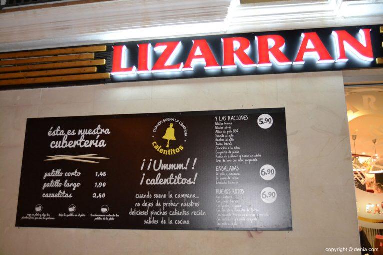 Carta Lizarran Dénia