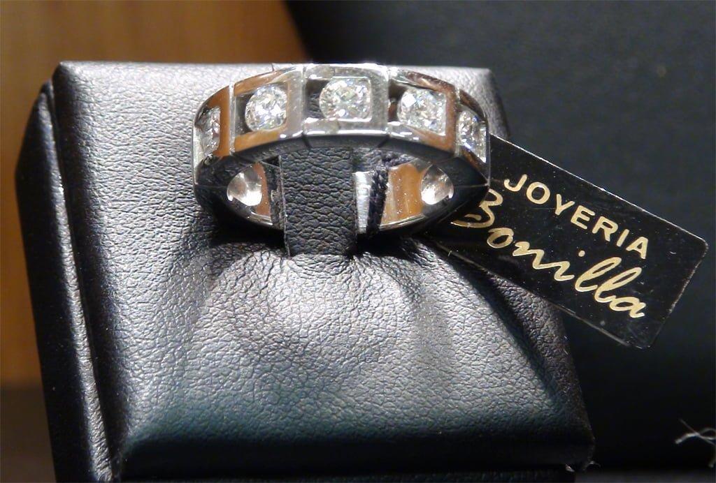 Anell de diamants - Joieria Bonilla