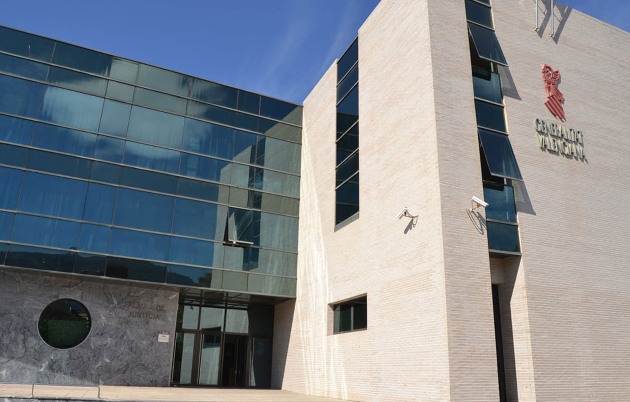 Exterior del Palacio de Justicia de Dénia, donde se encuentra la oficina del Registro Civil