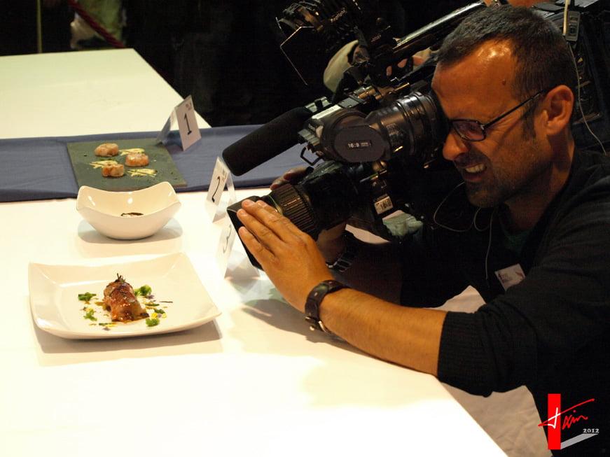 Cámara en el I Concurso de Cocina creativa de la Gamba Roja de Dénia