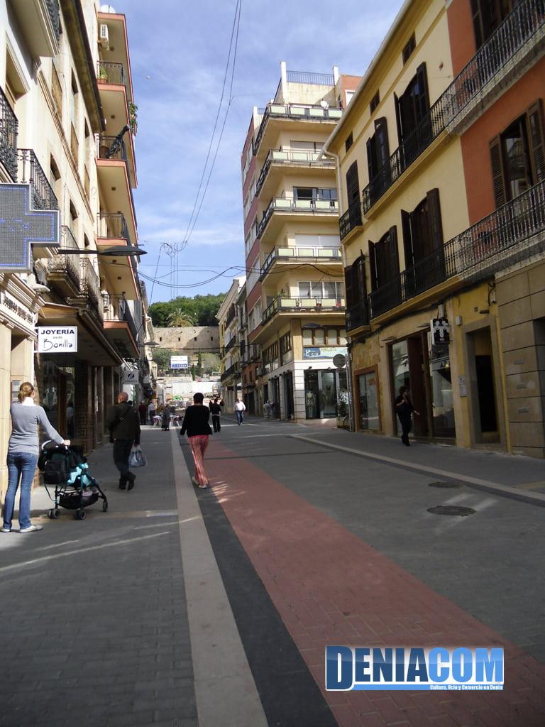 Carril Bici en la Calle Diana de Dénia