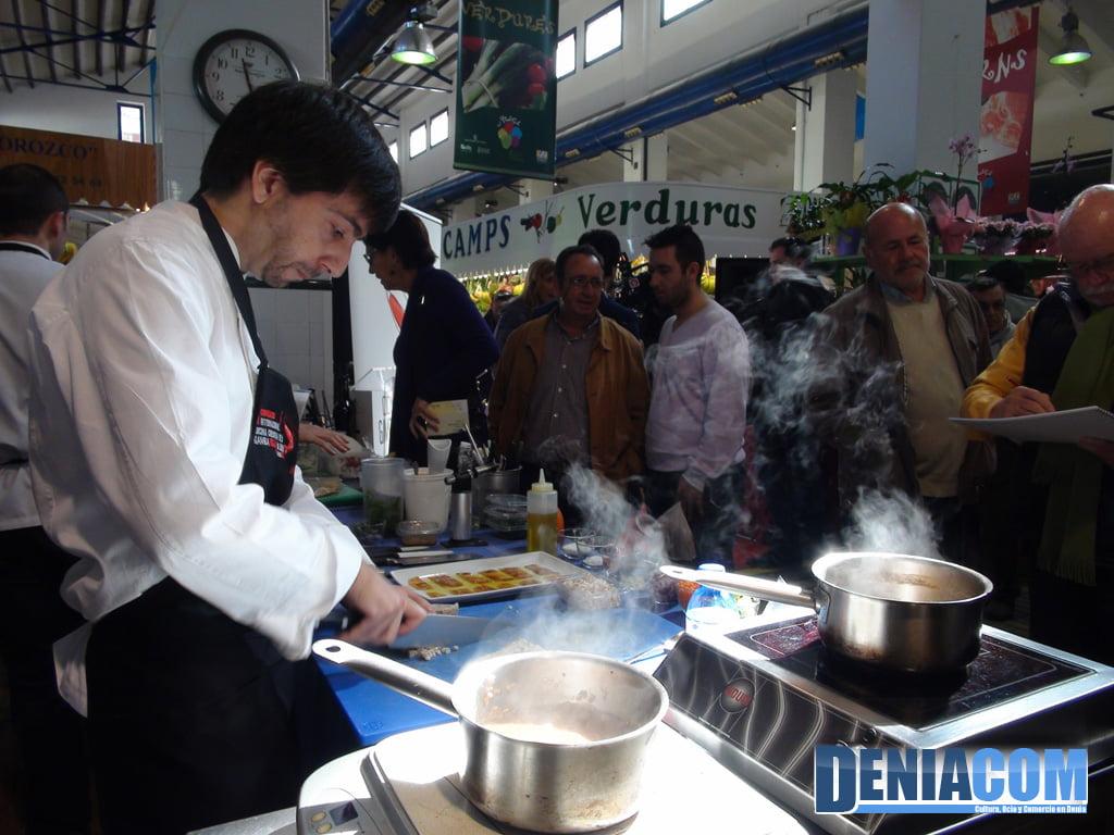Cocina creativa de la Gamba Roja de Dénia en el Mercat Municipal