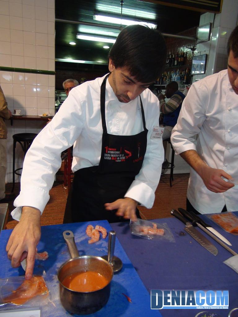Cocinero del I Concurso de Gamba Roja de Dénia