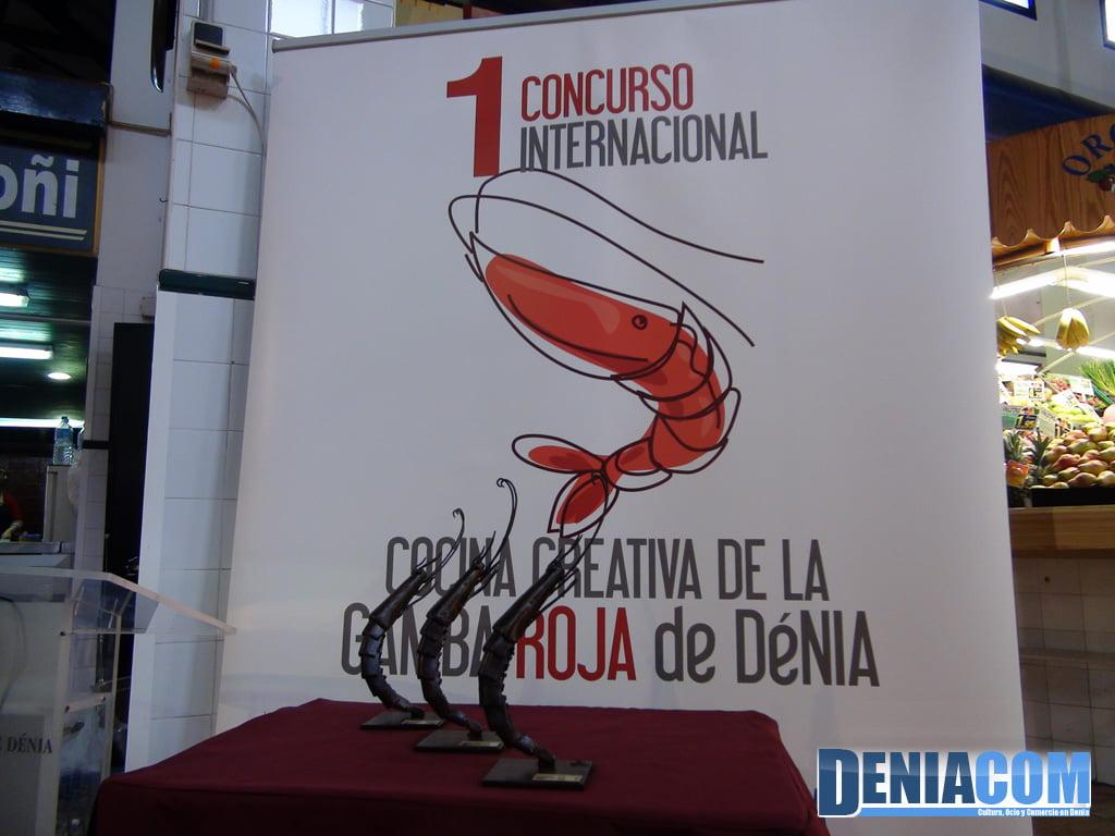 Trofeos del I Concurso de Cocina Creativa de la gamba Roja de Dénia