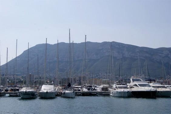 En barco a Dénia