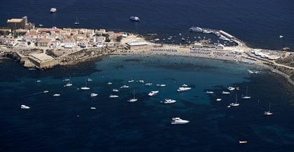 Vista aérez de la Isla de Tabarca