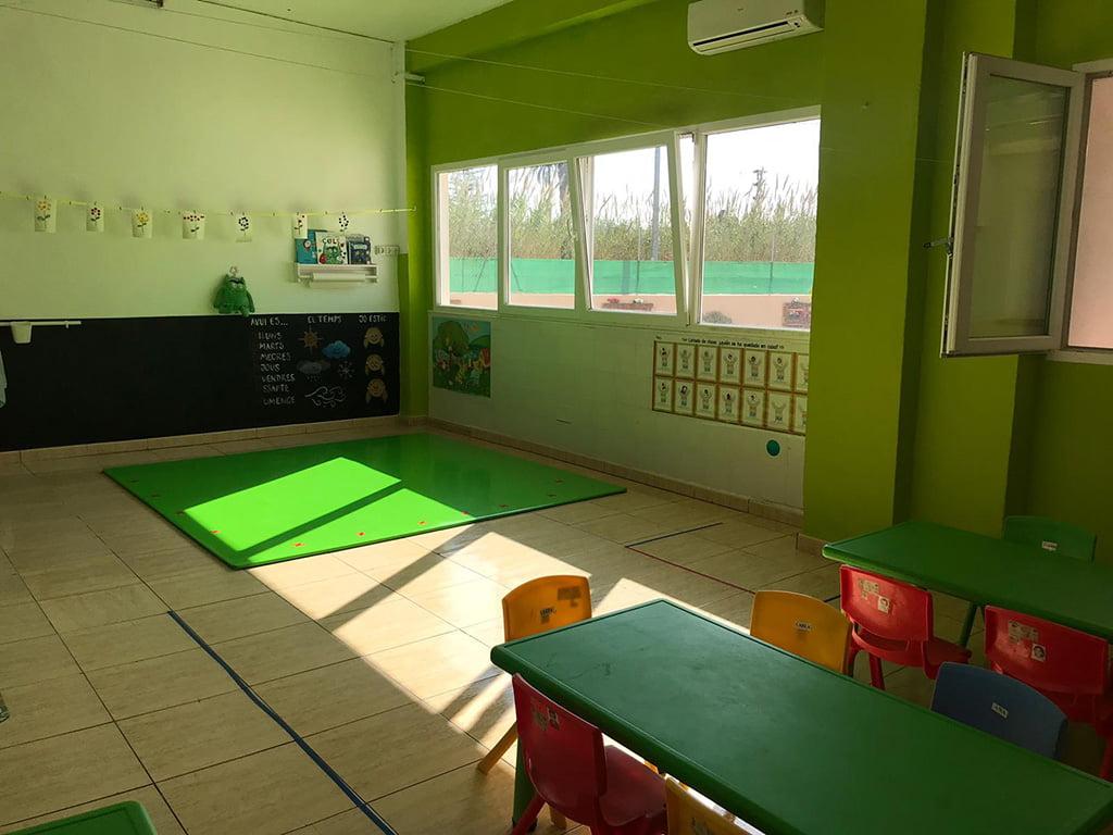 Interior aula Escoleta El Castellet