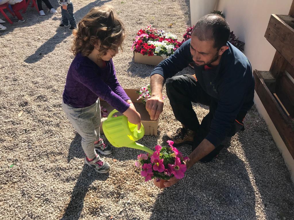 Jardineria en Escoleta El Castellet