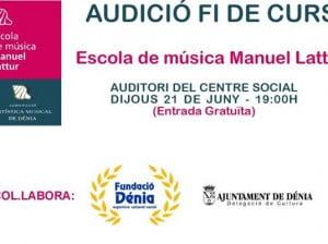 Audición de fin de curso de la Escuela de Música Manuel Lattur