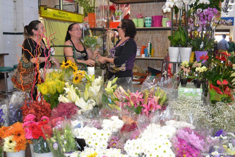 Flores en el Mercado de Dénia