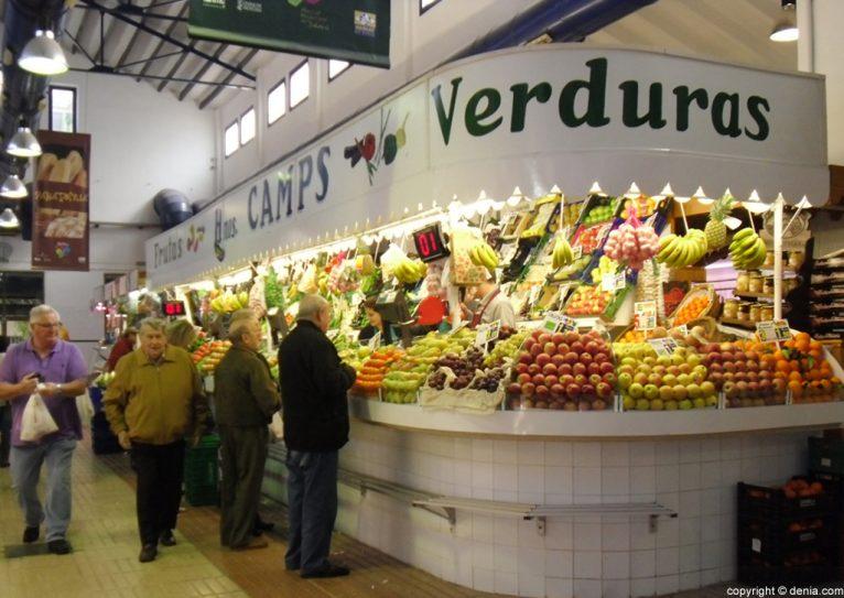 Mercat de Dénia - Frutas y verduras