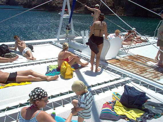 Relax en el catamarán