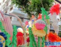 Carroza infantil Festa en l´Aquari de la Falla Roques