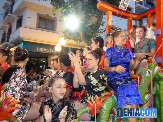 Los quintos 2012 en el Desfile de Carrozas