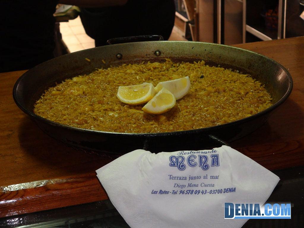 Restaurante Mena Dénia, Arroz a Banda