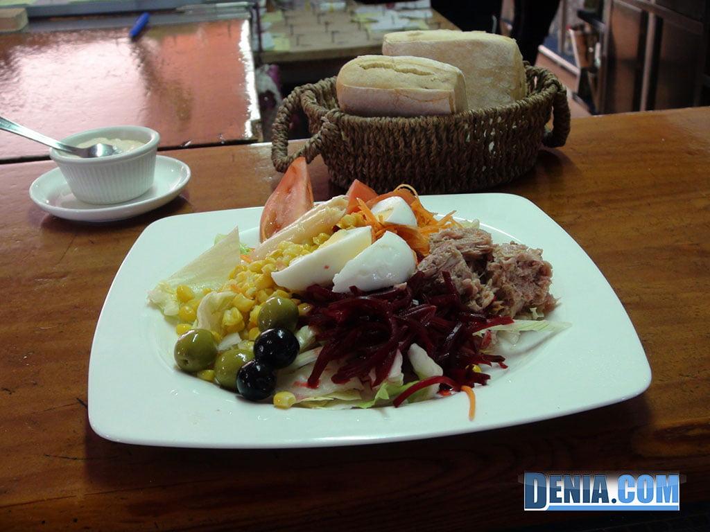 Ristorante Mena Denia, insalate mediterranee