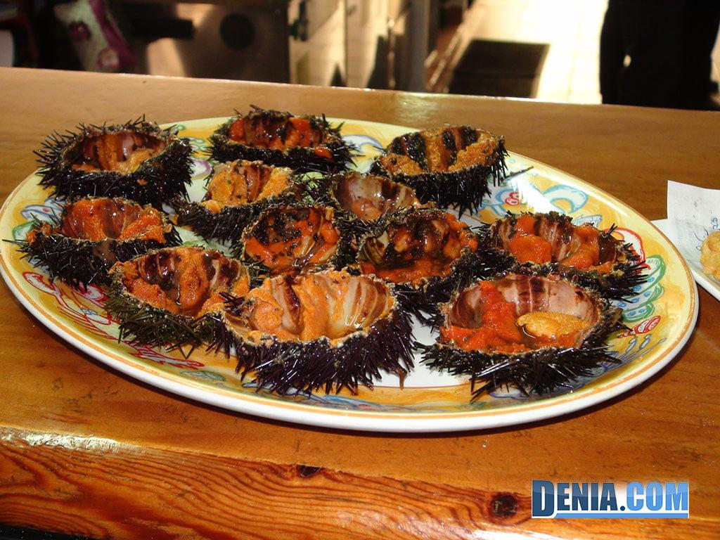 Restaurante Mena Dénia, Erizos