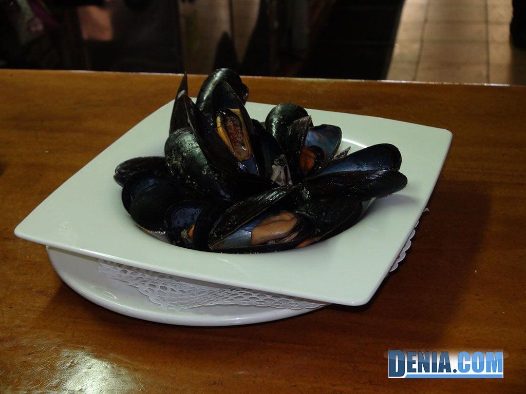 Restaurante Mena Dénia, Mejillones al vapor