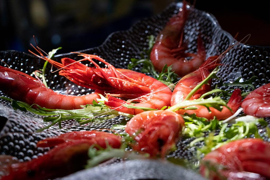 Gamba roja de Dénia en Restaurante Mena