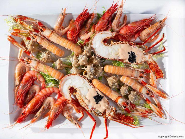 Frutti di mare in Dénia Restaurant Mena