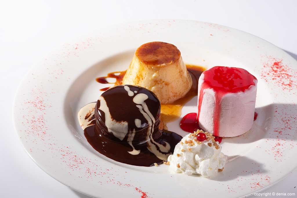 Variety of desserts Restaurant Mena