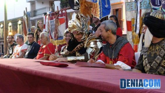 El capitán cristiano, Justo Morales, firma la tregua con el bando moro