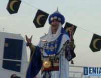 El embajador moro durante el acto del Desembarco de los Moros y Cristianos Dénia 2012