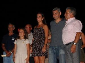 Falleras Mayores de Dénia 2013 y Presidente de la Junta Local en el encuentro de entidades desteras
