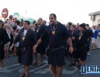 Filà Deniers durante el pasacalle posterior al Desembarco de los Moros y Cristianos Dénia 2012