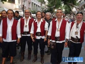 Filà Marins Corsaris durante el pasacalle posterior al Desembarco de los Moros y Cristianos Dénia 2012