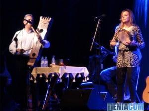Olga y los Ministriles durante su actuación en el festival Música al Castell 2012 de Dénia