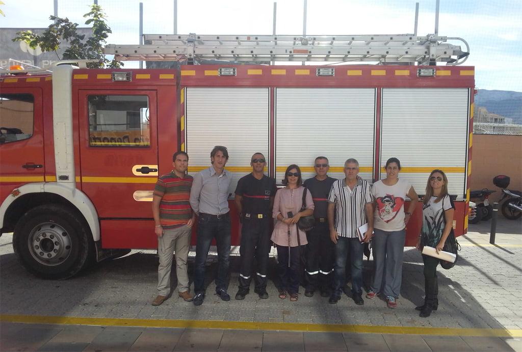 Simulacro de incendio en el centro deportivo d nia d for Gimnasio denia